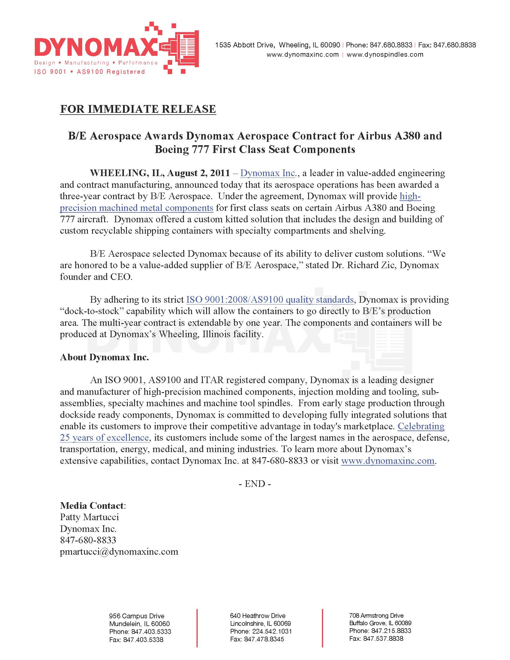 Press Releases | Dynomax, Inc